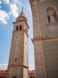 Kyrkligt torn, Kroatien Royaltyfria Foton
