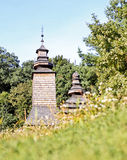 kyrkligt trä Arkivfoton