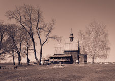 kyrkligt trä Arkivbild