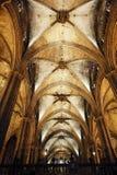 kyrkligt välvt medeltida för tak royaltyfria foton