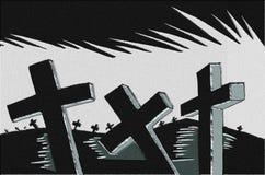 kyrkogård vektor illustrationer