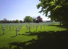 Kyrkogård Aubel Belgien Arkivfoton