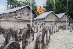 Kyrkogård av den gamla fredag moskén arkivbilder