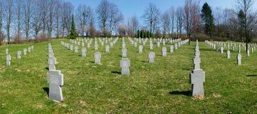 Kyrkogård av försoning, var stupade tyska soldater från WWII begravdes, Valasske Mezirici, Tjeckien Royaltyfria Bilder