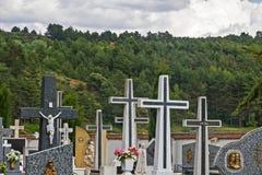 Kyrkogård Cruces Arkivbild