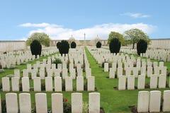 Kyrkogård för britt för krig för värld för blindgångarehörn första Arkivfoton