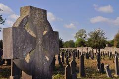 kyrkogård för celtic kors Arkivbilder