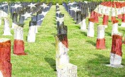 Kyrkogård för krig för världskrig I - hjältar som är stupade för hemland - veteranminnesdagen arkivfoto