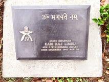 Kyrkogård för världskrig, Kohima, Nagaland, North-East Indien royaltyfri bild