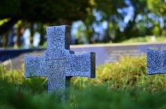 Kyrkogård från världskrig II Arkivbilder