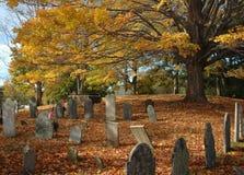 kyrkogård gammala oktober Arkivbild