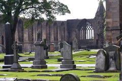 kyrkogård historiska scotland Arkivbild