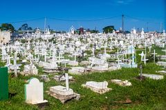 Kyrkogård i Cayenne arkivbild