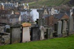 Kyrkogård i Edinburg Arkivbilder