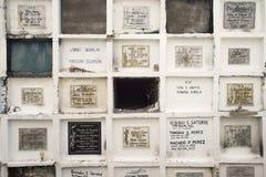 Kyrkogård i Filippinerna Iloilo Royaltyfri Fotografi