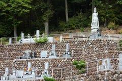 Kyrkogård i Japan Royaltyfria Foton