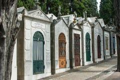 Kyrkogård i Lissabon, Portugal Arkivfoto