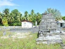 Kyrkogård i Maldiverna Royaltyfria Foton