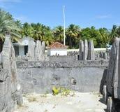 Kyrkogård i Maldiverna Arkivbild