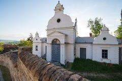 Kyrkogård i Mikulov Arkivbild