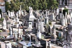 Kyrkogård i Milan, Italien Royaltyfri Bild