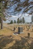 Kyrkogård i minnesmärke för Little Bighornslagfältmedborgare Royaltyfria Bilder