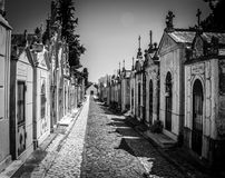 Kyrkogård i Portugal Royaltyfri Bild