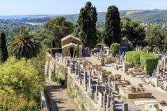 Kyrkogård i Provence, Frankrike Arkivbild