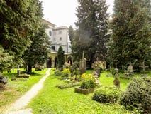 Kyrkogård i Salzburg Royaltyfri Foto