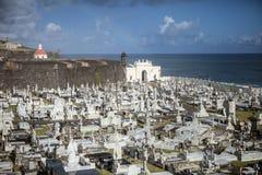 Kyrkogård i San Juan Puerto Rico Arkivfoton