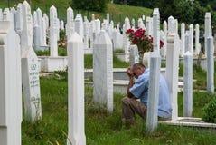 Kyrkogård i Sarajevo, Bosnien och Hercegovina Royaltyfri Bild
