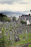 Kyrkogård i Stirling Royaltyfri Fotografi