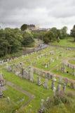 Kyrkogård i Stirling Arkivbild