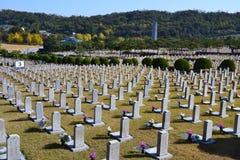 Kyrkogård i Sydkorea Royaltyfria Foton