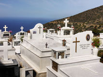 Kyrkogård Kreta, Grekland Royaltyfria Bilder