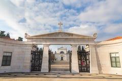 Kyrkogård Lissabon Portugal för Cemiterio DOS Prazeres arkivfoton