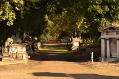 Kyrkogård London för banaKensal gräsplan Arkivfoto