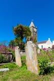 Kyrkogård på Alderney Royaltyfri Fotografi