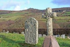 Kyrkogård på Dartmoor Royaltyfria Foton