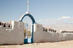 Kyrkogård på den Atacama öknen Royaltyfri Bild