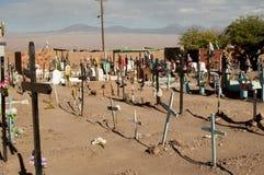 Kyrkogård på den Atacama öknen Royaltyfri Foto