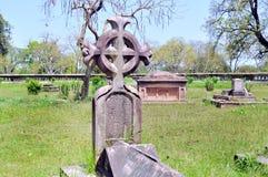 Kyrkogård på den brittiska uppehållet Arkivfoto
