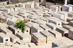 Kyrkogård på den Jerusalem staden Arkivbilder