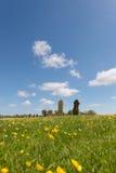 Kyrkogård på holländare Terschelling Arkivfoto