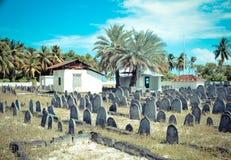 Kyrkogård på Maldiverna Royaltyfri Foto