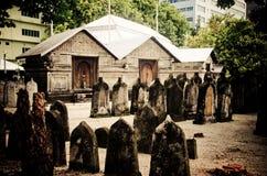 Kyrkogård på Maldiverna Royaltyfria Foton