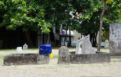 Kyrkogård på Maldiverna Royaltyfri Bild