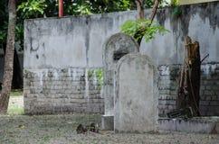Kyrkogård på Maldiverna Arkivbild