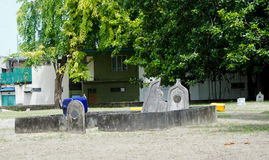 Kyrkogård på Maldiverna Arkivfoton