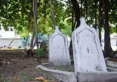Kyrkogård på Maldiverna Fotografering för Bildbyråer